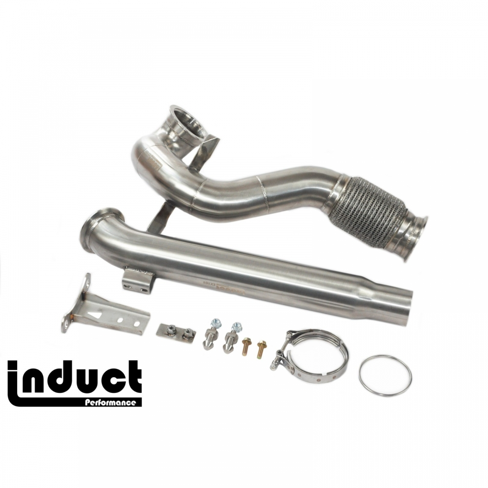 Induct MK7 MQB FWD downpipe exhaust for MK7 GTI, GOLF and AUDI A3